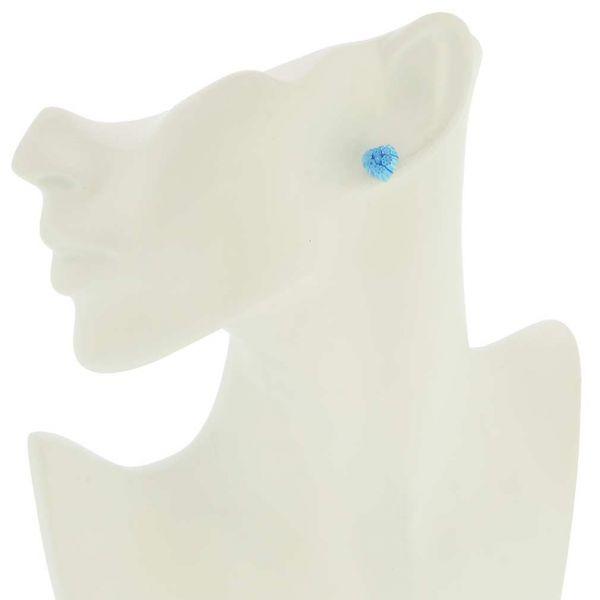 Millefiori Heart Stud Earrings #3