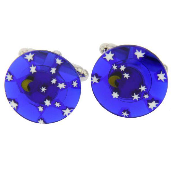 Murano Millefiori Cufflinks - Starry Night