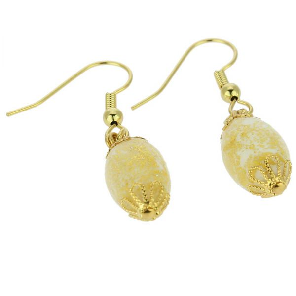 Ca D\'Oro Olives Earrings - Ivory Gold