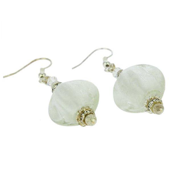 Silver Moonlight Murano Earrings