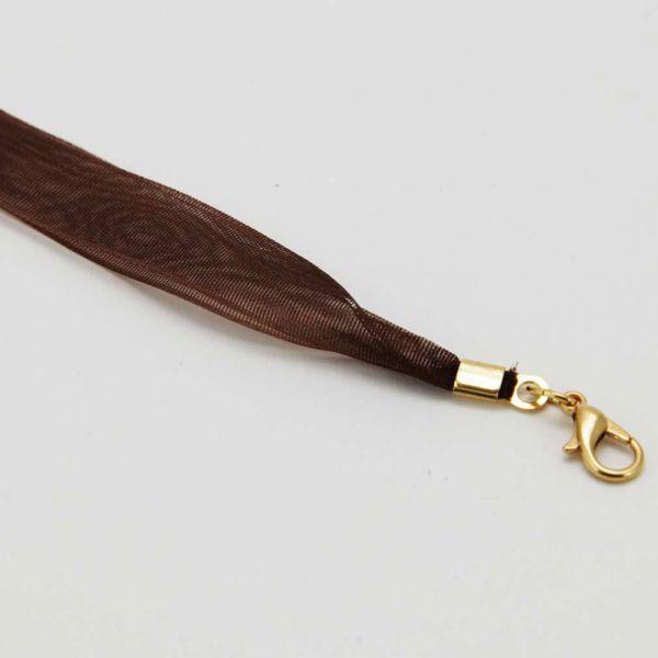 Organza Ribbon - Chocolate Brown