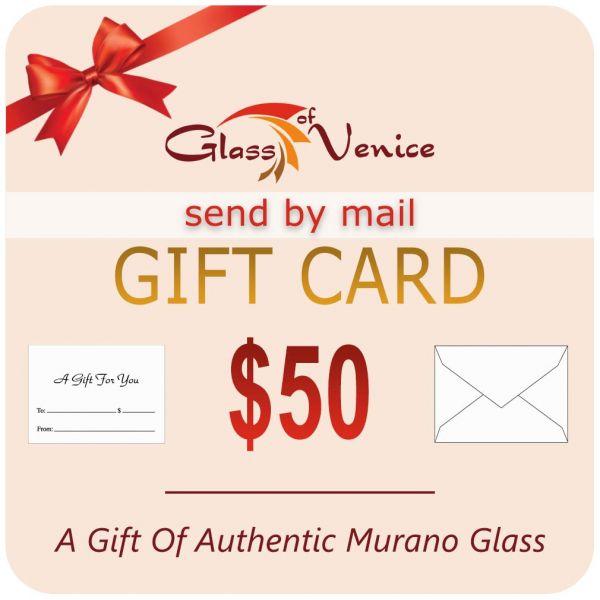 $50 Glassofvenice Gift Certificate