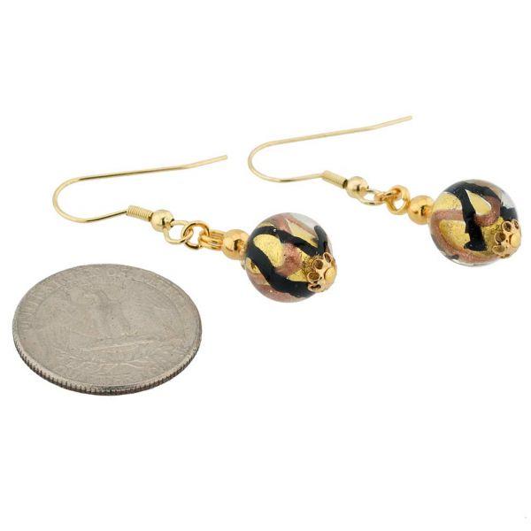 Royal Black Ball Earrings