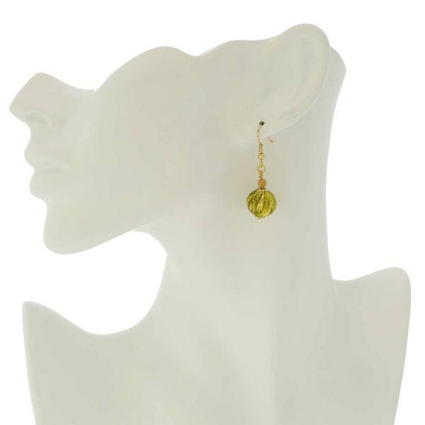 Royal Herb Green Ball Earrings