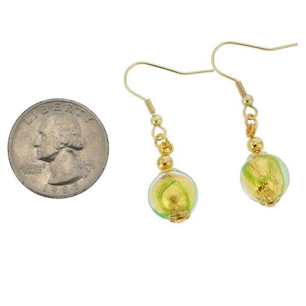 Royal Green Ball Earrings