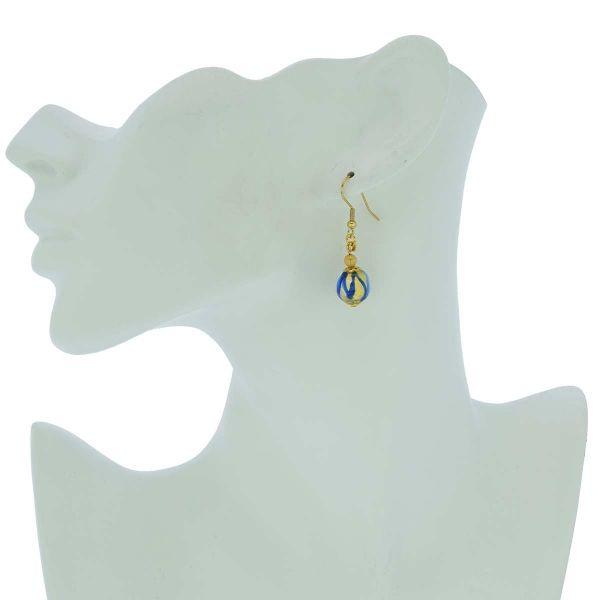 Royal Blue Ball Earrings