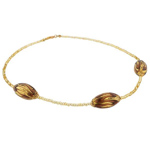 Royal Purple Capsules Necklace