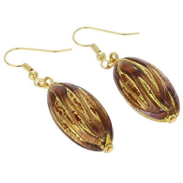Royal Purple Capsule Earrings