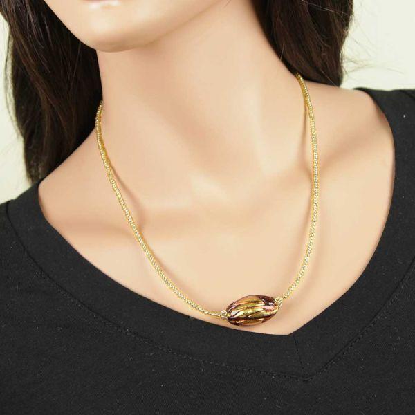 Royal Purple Capsule Necklace