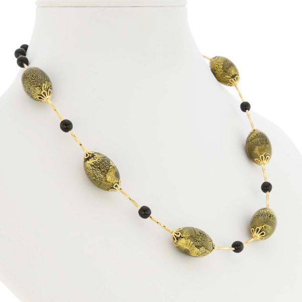 Golden Glow Necklace - Summer Night