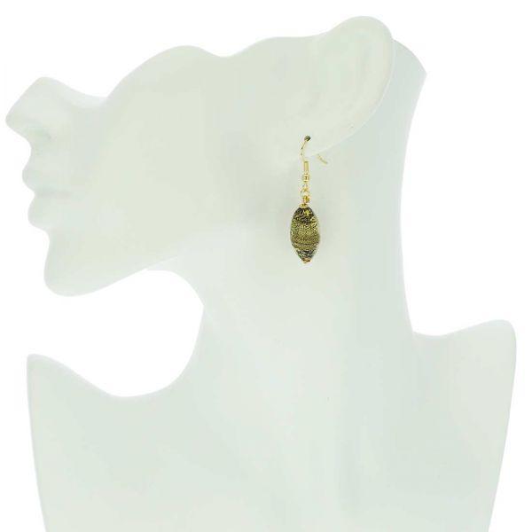 Ca D\'Oro Olives Earrings - Black