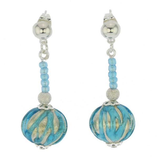 Canaletto Earrings - Silver Tender Sky