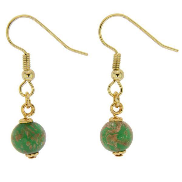 Starlight Balls Earrings - Emerald