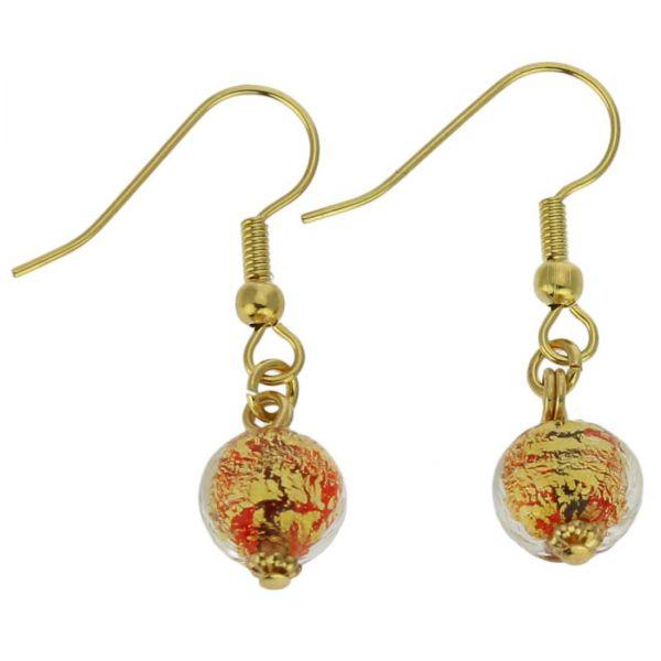 Golden Glow Earrings - Red