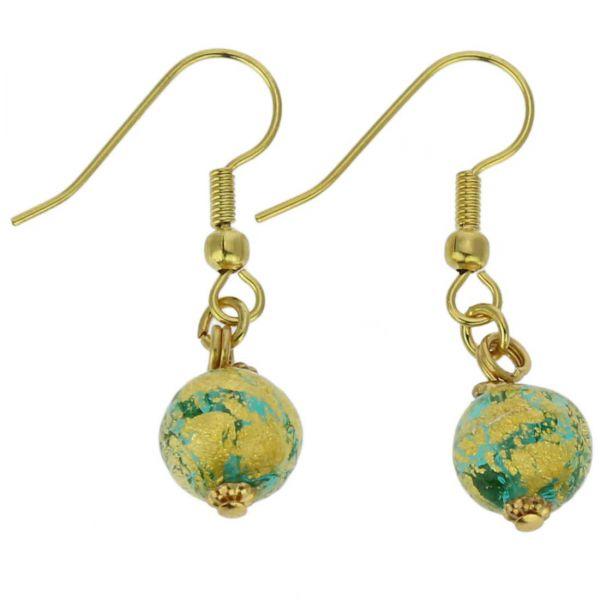 Golden Glow Earrings - Green