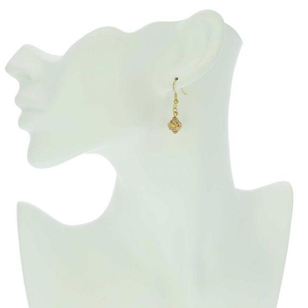 Golden Glow Earrings - Purple