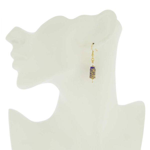 Ca D\'Oro Murano Barrel Earrings - Cobalt Blue