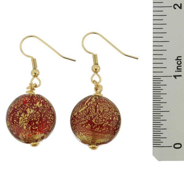 Ca D\'Oro Earrings - Ruby Red