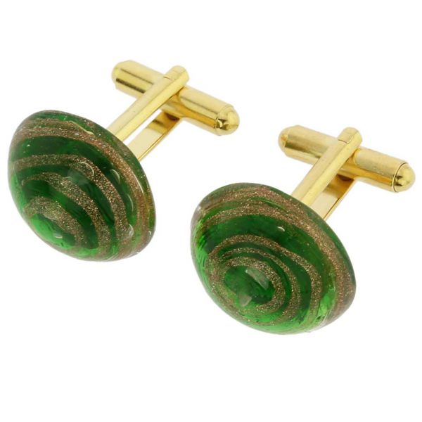 Venetian Sparkles Cufflinks - Emerald