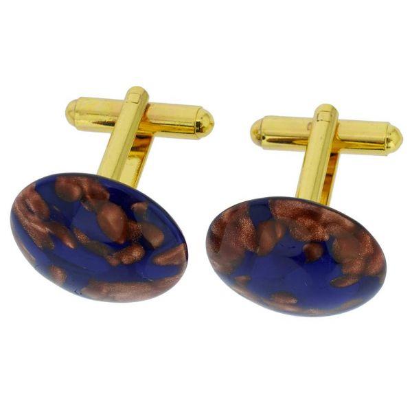 Venetian Sparkles Cufflinks - Navy Blue