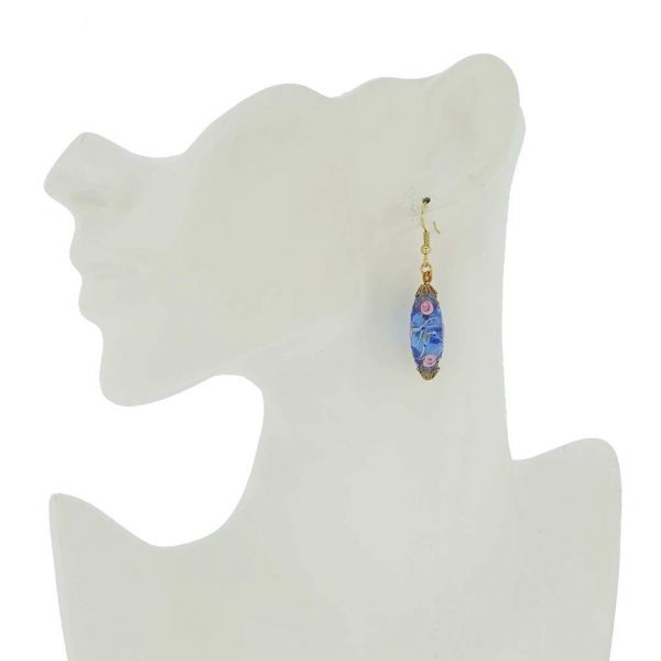 Magnifica Antique Olives Earrings - Blue