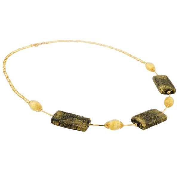 Vivaldi Murano Necklace - Black and Gold