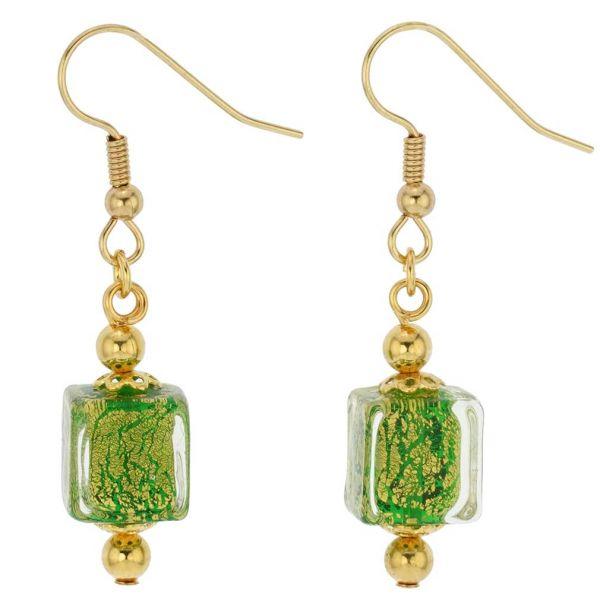 Antico Tesoro Cubes Earrings - Apple Green