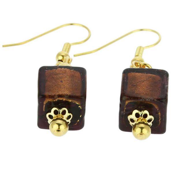 Antico Tesoro Cubes Earrings -Purple