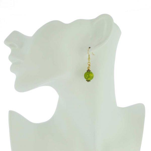 Antico Tesoro Balls Earrings -Apple Green