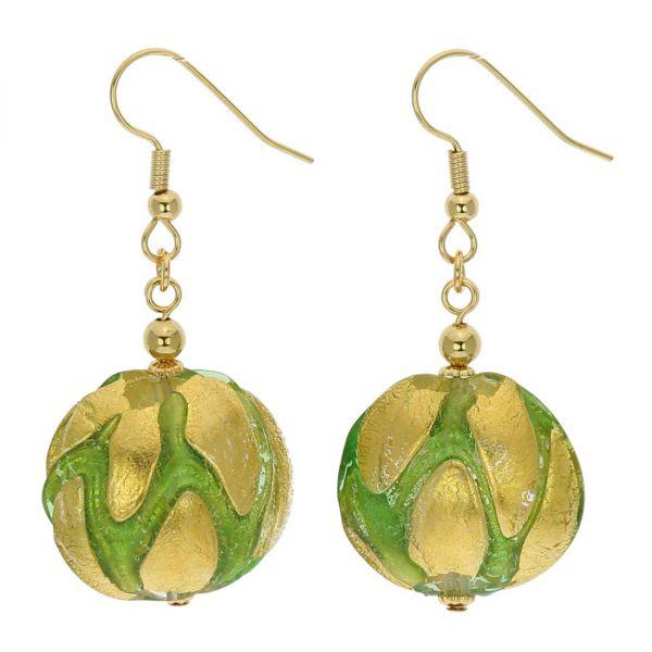Royal Green Circles Earrings