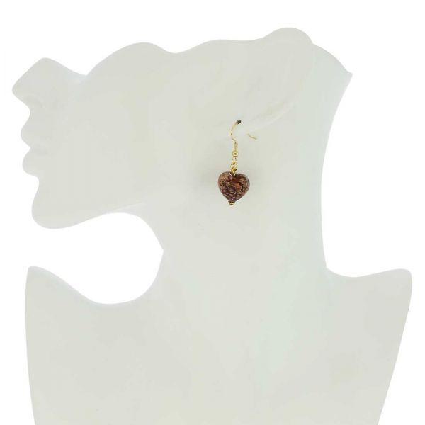 Starlight Hearts Earrings - Ruby Red