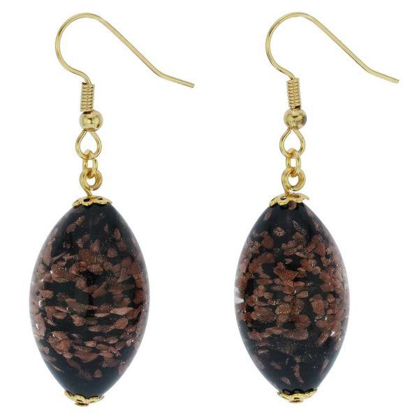 Starlight Olives Earrings - Black Topaz