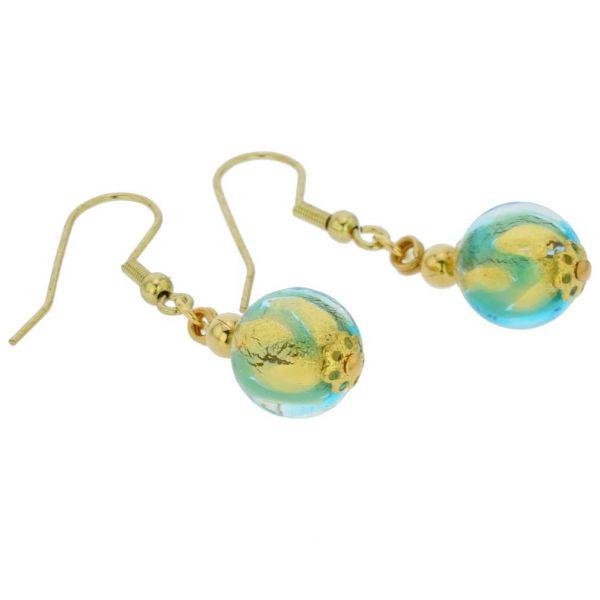 Royal Aqua Ball Earrings