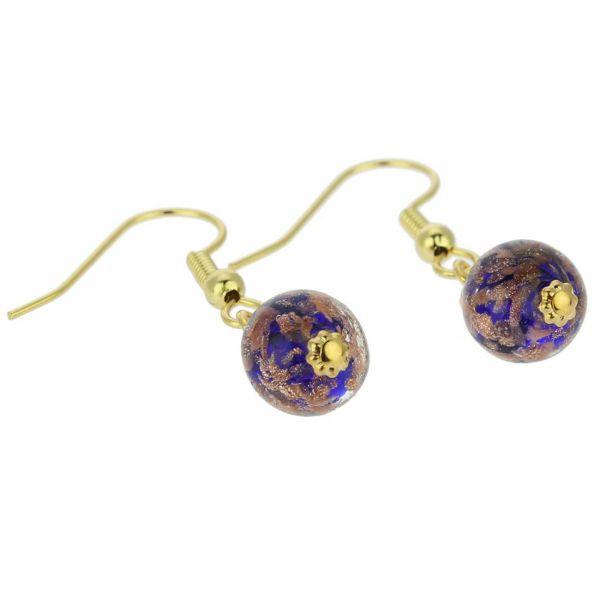 Starlight Balls Earrings - Navy Blue
