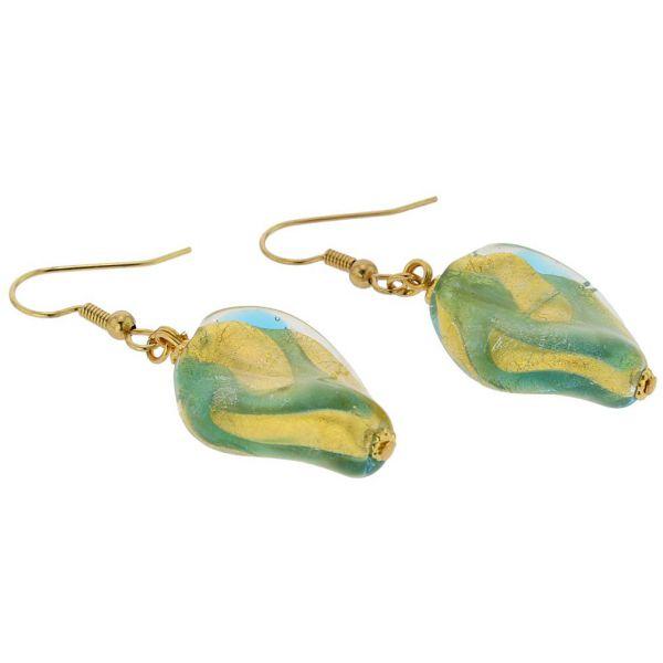 Royal Aqua Spiral Earrings
