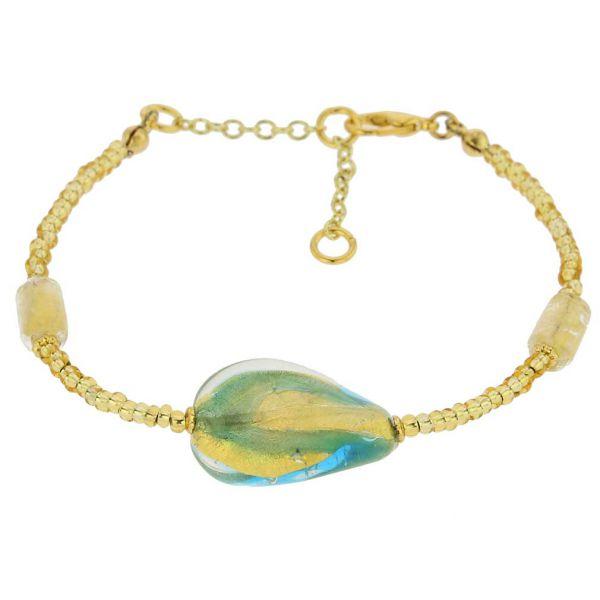 Royal Aqua Spiral Bracelet
