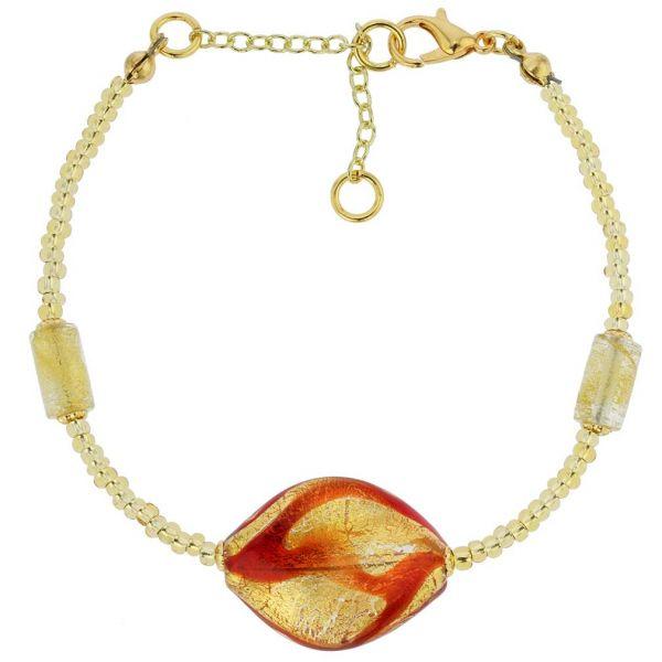 Royal Red Spiral Bracelet