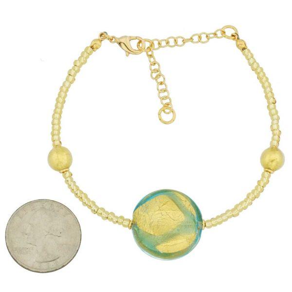 Royal Aquamarine Circle Bracelet
