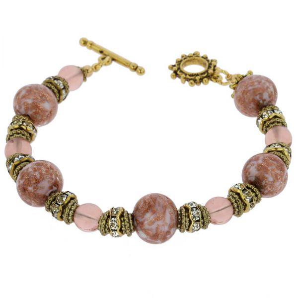 Murano Symphony Bracelet - Rose Pink