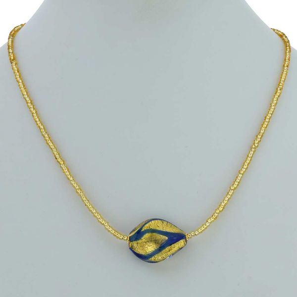 Royal Blue Spiral Necklace