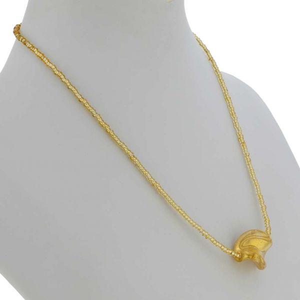 Royal Gold Spiral Necklace