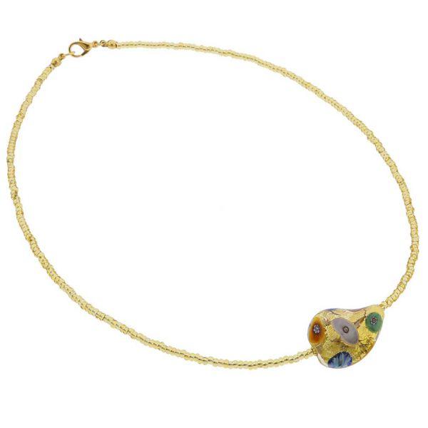 Royal Klimt Spiral Necklace