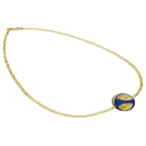Royal Blue Circle Necklace