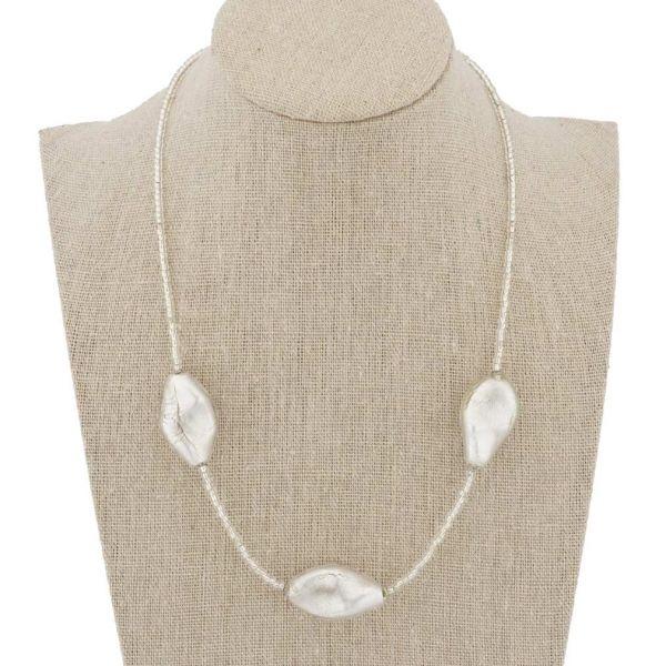 Royal Silver Spirals Necklace