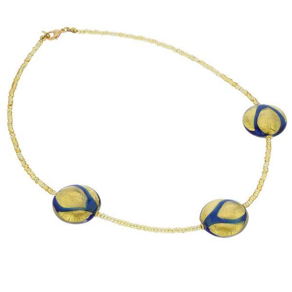 Royal Blue Circles Necklace