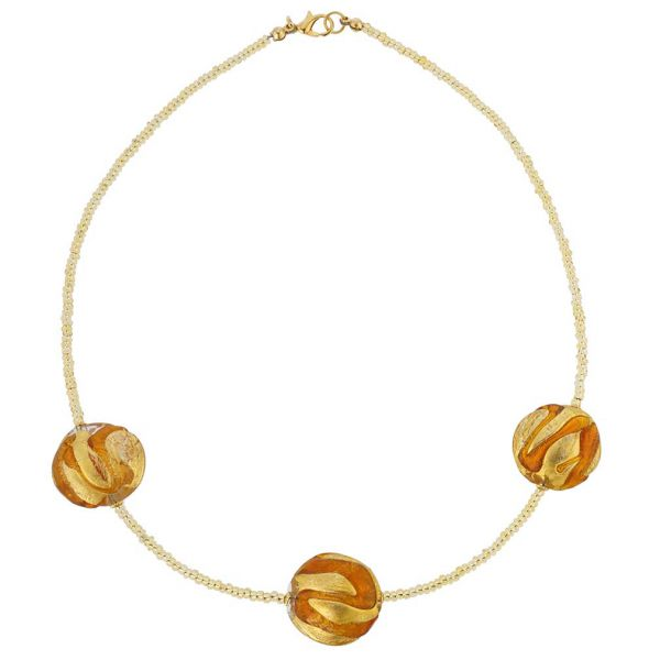 Royal Cognac Circles Necklace