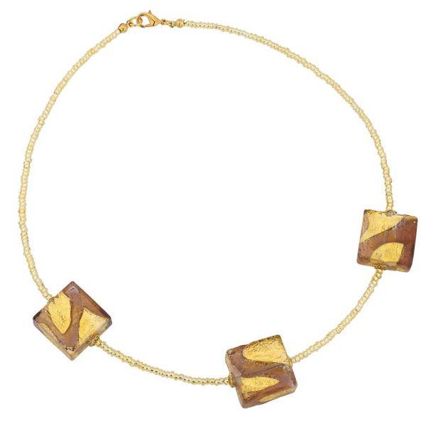 Royal Purple Squares Necklace