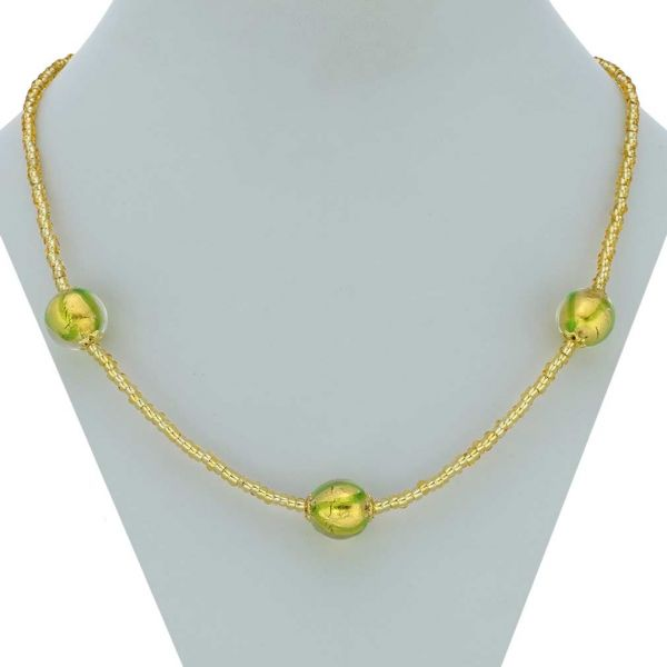 Royal Green Balls Necklace