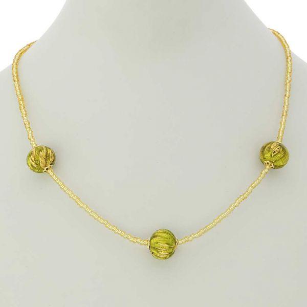 Royal Herb Green Balls Necklace