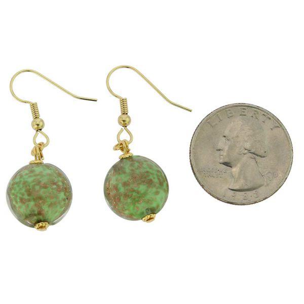 Starlight Disk Earrings - Seafoam Green